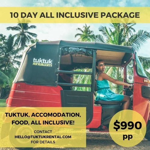 TukTuk Rental 10 Day all inclusive package