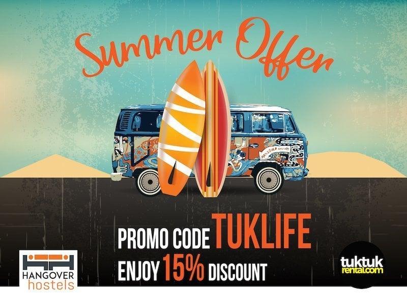 Promo discount code Hangover Hostel Arugam Bay TukTuk Rental