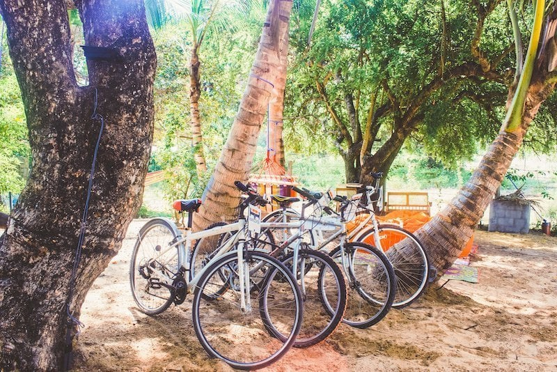 Bikes for rent at Hangover Hostel Arugam Bay Sri Lanka