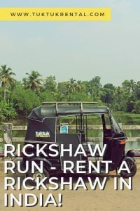 Rent a rickshw tuktuk in India